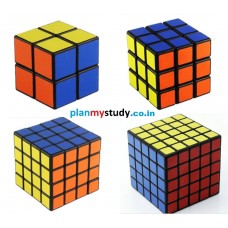 Rubik's Cube Combo of 4 Cubes 2x2x2 ,3x3x3 ,4x4x4 ,5x5x5 Smooth, Lightsome, Excellent Quality, Competition Cube