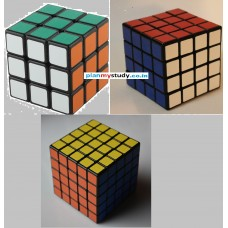 Rubik's Cube Combo of 3x3x3 , 4x4x4 & 5x5x5 Smooth, Lightsome, Excellent Quality, Competition Cube