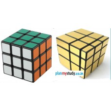 Rubik's Cube Combo of 3x3x3 & Mirror 3x3x3 Smooth, Light some, Excellent Quality, Competition Cube