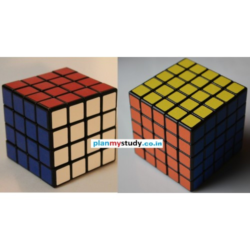 Rubik's Cube Combo of 4x4x4 & 5x5x5 Smooth, Light some, Excellent