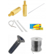Kit of accessories with miscellaneous items like cable ties, mechanical screws, adhesive, studs, shaft, soldering wire etc.