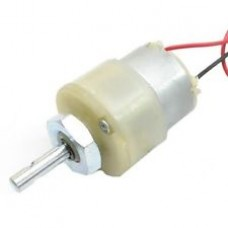 Geared Motor Big Size with Gearbox, Low RPM, 12V, 300mA, 2 kg.cm