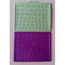 Alphabet,Number learning & Handwriting Improvement slates small-Engraved-Combo of 2 -English & Cursive