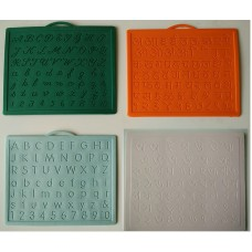 Alphabet,Number learning & Handwriting Improvement slates small-Engraved-Combo of 4 -English,Hindi Cursive& Bengali