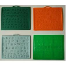 Alphabet, Number learning & Handwriting Improvement slates small-Engraved -Combo of 4 -English,Hindi Cursive & Gujarati