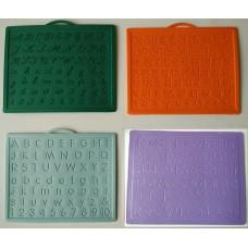 Alphabet,Number learning & Handwriting Improvement slates small-Engraved-Combo of 4 -English,Hindi Cursive& Gurumukhi