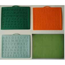Alphabet,Number learning & Handwriting Improvement slates small-Engraved-Combo of 4 -English,Hindi Cursive& Malayalam