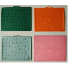 Alphabet,Number learning & Handwriting Improvement slates small-Engraved-Combo of 4 -English,Hindi Cursive& Tamil