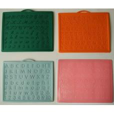 Alphabet,Number learning & Handwriting Improvement slates small-Engraved-Combo of 4 -English,Hindi Cursive& Telugu