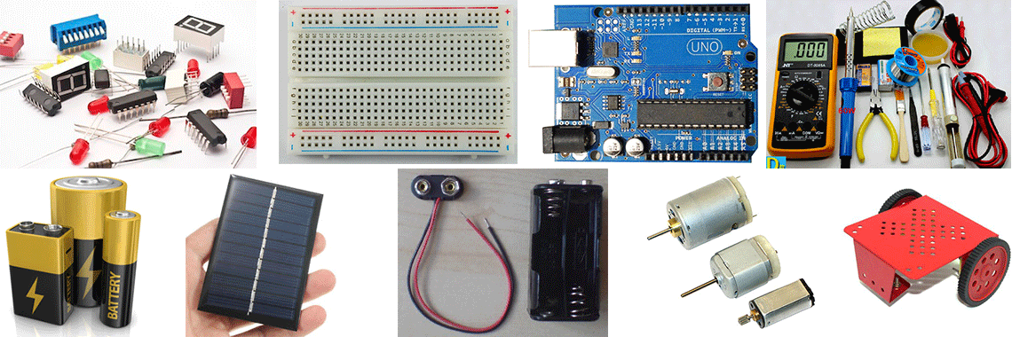 electronics and project components