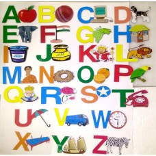 Alphabets made of MDF with pictures for learning and teaching ( A to Z )