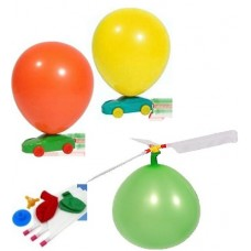 Balloon Helicopter or Air based aero plane & 2 Cars- Total 3 pieces DIY