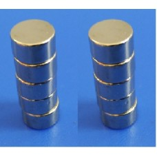 Neodymium N52 Grade Super Strong Magnet 6mm x 6mm Set of 10